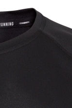 Short-sleeved running top - Black - Men | H&M 3